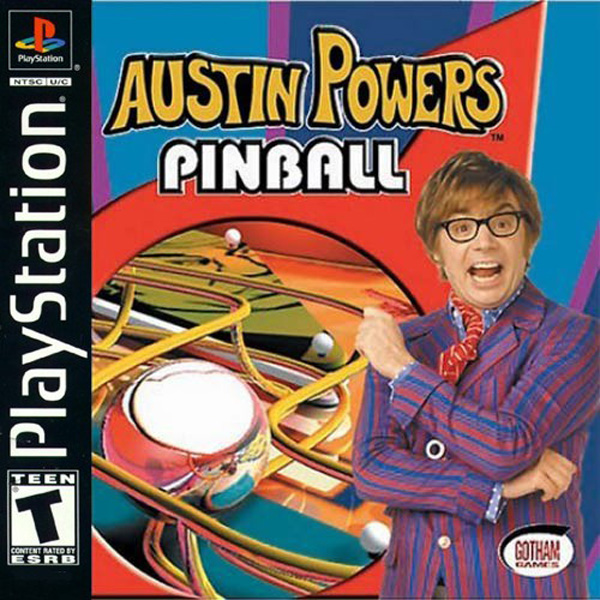 Austin Power's Pinball Sony PlayStation cover artwork