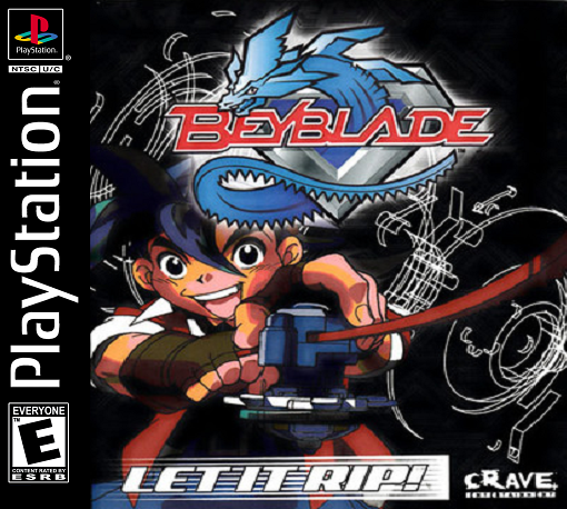 Beyblade Sony PlayStation cover artwork
