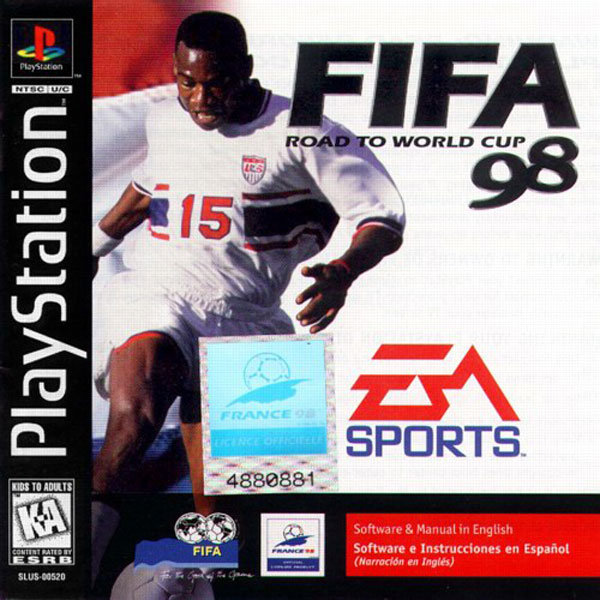 FIFA - Road to World Cup 98 Sony PlayStation cover artwork