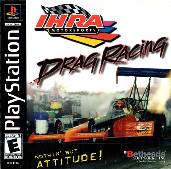 IHRA Drag Racing Sony PlayStation cover artwork