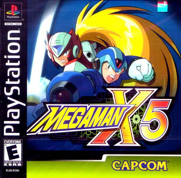 Mega Man X5 Sony PlayStation cover artwork