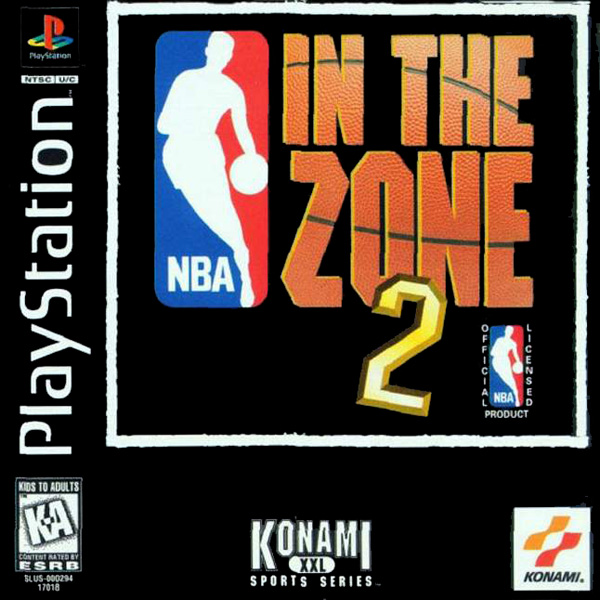 NBA in the Zone 2 Sony PlayStation cover artwork