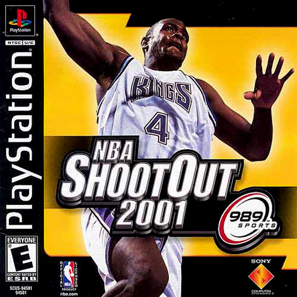 NBA ShootOut 2001 Sony PlayStation cover artwork