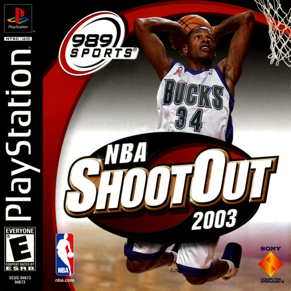 NBA ShootOut 2003 Sony PlayStation cover artwork