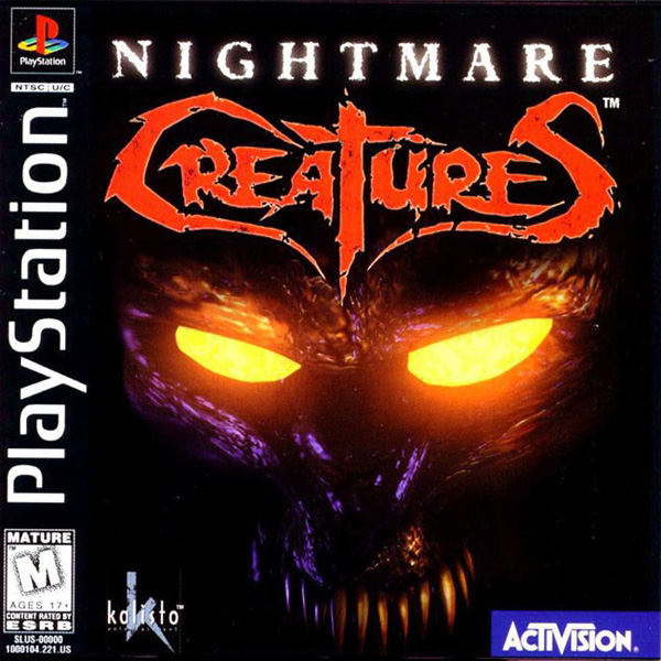 Nightmare Creatures Sony PlayStation cover artwork