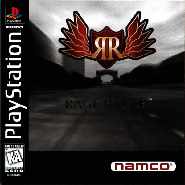 Rage Racer Sony PlayStation cover artwork