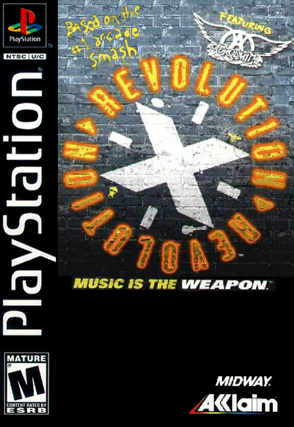 Revolution X Sony PlayStation cover artwork