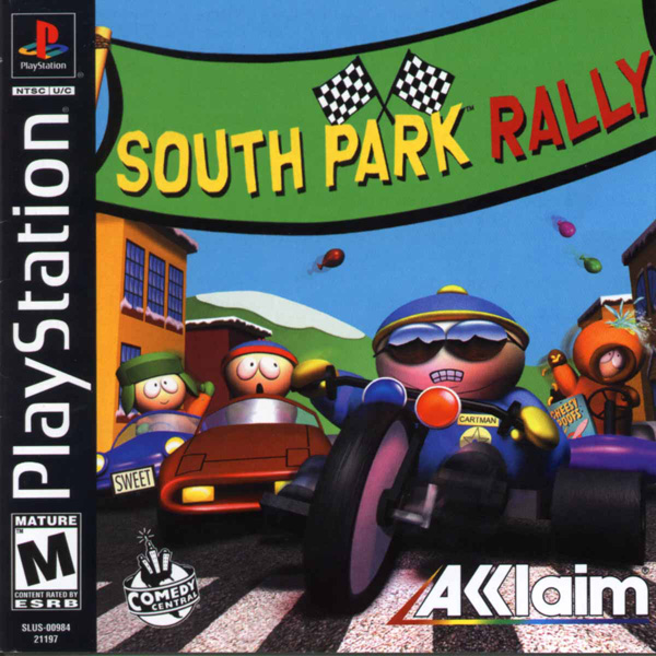 South Park Rally Sony PlayStation cover artwork