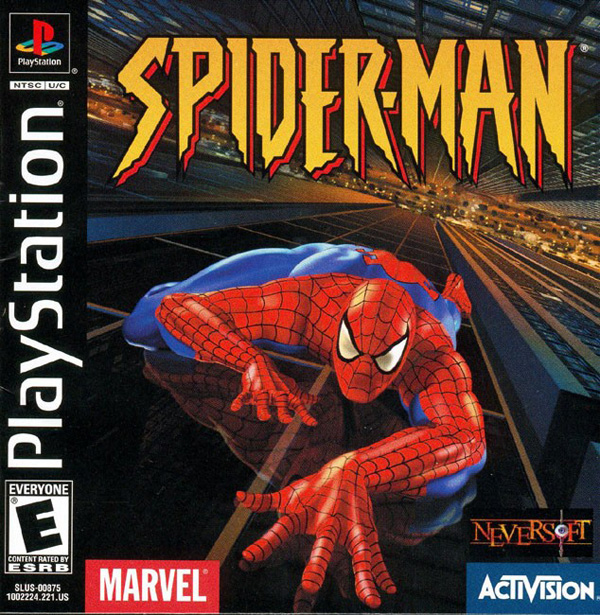 Spider-Man Sony PlayStation cover artwork