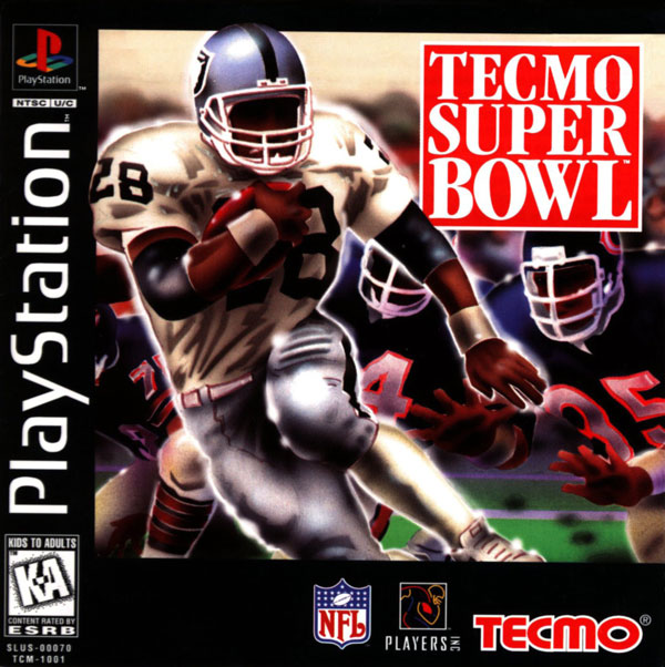 Tecmo Super Bowl Sony PlayStation cover artwork