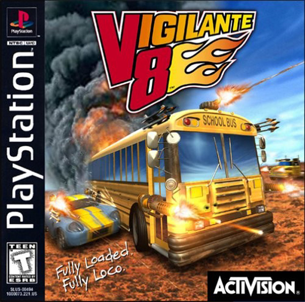 Vigilante 8 Sony PlayStation cover artwork