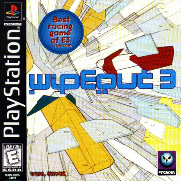 WipEout 3 Sony PlayStation cover artwork