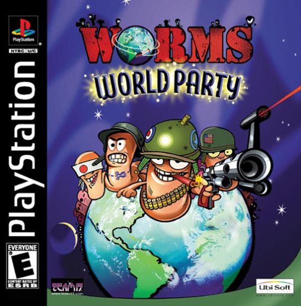 Worms World Party Sony PlayStation cover artwork