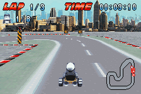 Play Crazy Frog Racer - Nintendo Game Boy Advance online