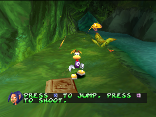 Play Rayman 2 The Great Escape Sony Playstation Online Play Retro Games Online At Game Oldies