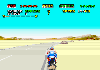 Super Hang-On ingame screenshot