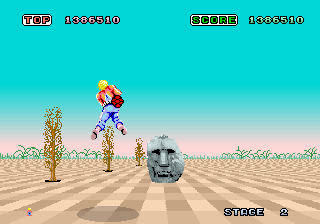 Space Harrier ingame screenshot