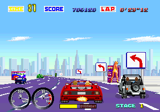 Turbo Out Run ingame screenshot