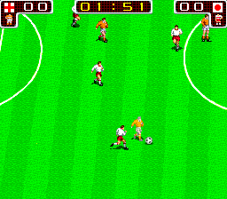 Tecmo World Cup '90 ingame screenshot