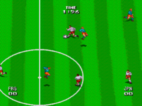 Tecmo World Cup Super Soccer ingame screenshot