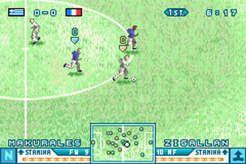 International Superstar Soccer Advance ingame screenshot