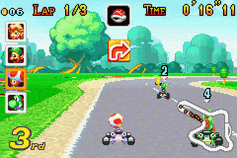 Mario Kart - Super Circuit ingame screenshot