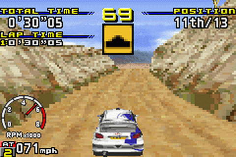 Sega Rally Championship ingame screenshot