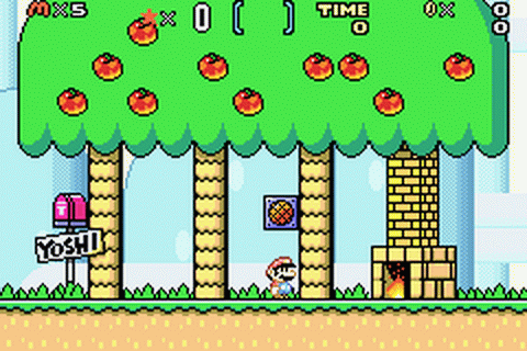 Super Mario Advance 2 - Super Mario World ingame screenshot