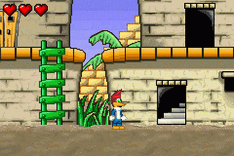 Woody Woodpecker in Crazy Castle 5 ingame screenshot