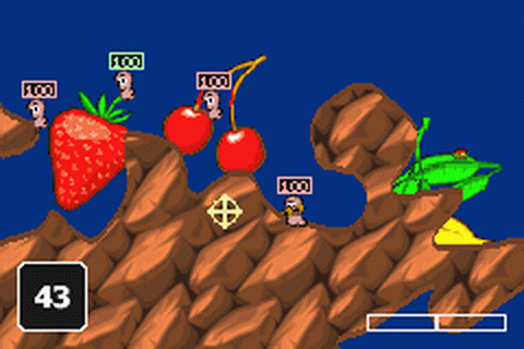 Worms World Party ingame screenshot