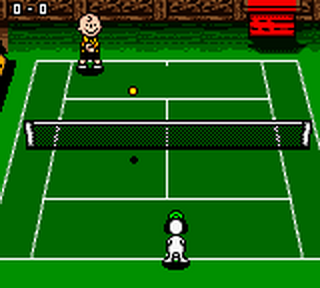 Snoopy Tennis ingame screenshot
