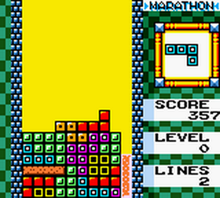 Tetris DX ingame screenshot