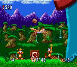 Bubsy in Claws Encounters of the Furred Kind ingame screenshot