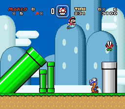 Super Mario World ingame screenshot