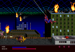 Amazing Spider-Man, The - Web of Fire ingame screenshot