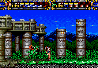 Alisia Dragoon ingame screenshot