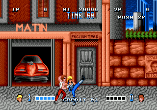 Double Dragon ingame screenshot