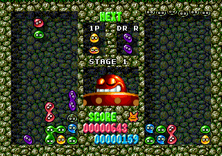 Dr. Robotnik's Mean Bean Machine ingame screenshot