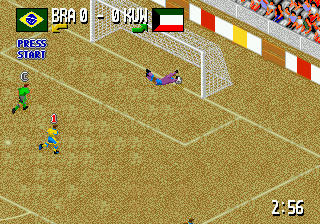 Head-On Soccer ingame screenshot