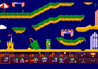 Lemmings 2 - The Tribes ingame screenshot