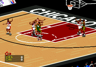 NBA Live 98 ingame screenshot
