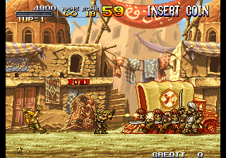 Metal Slug 2 : Super Vehicle-001  ingame screenshot