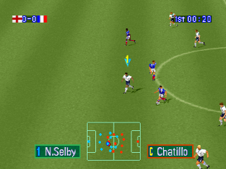 Goal Storm '97 ingame screenshot