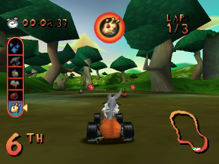 Looney Tunes Racing ingame screenshot
