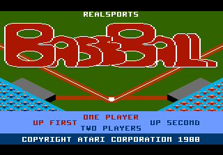 RealSports Baseball title screenshot