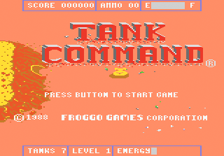 Tank Command title screenshot