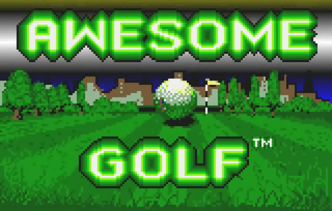 Awesome Golf title screenshot