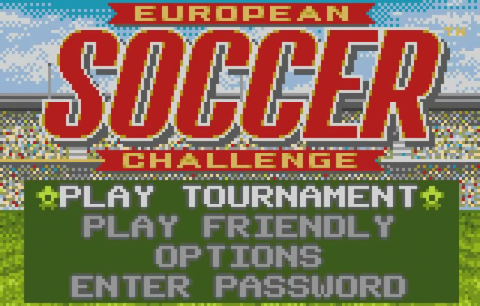 European Soccer Challenge title screenshot