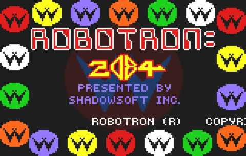 Robotron 2084 title screenshot