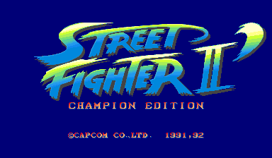 Street Fighter II': Champion Edition title screenshot